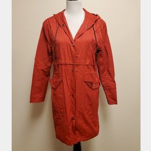 Urban Outfitters BDG Raincoat Rain Jacket Red
